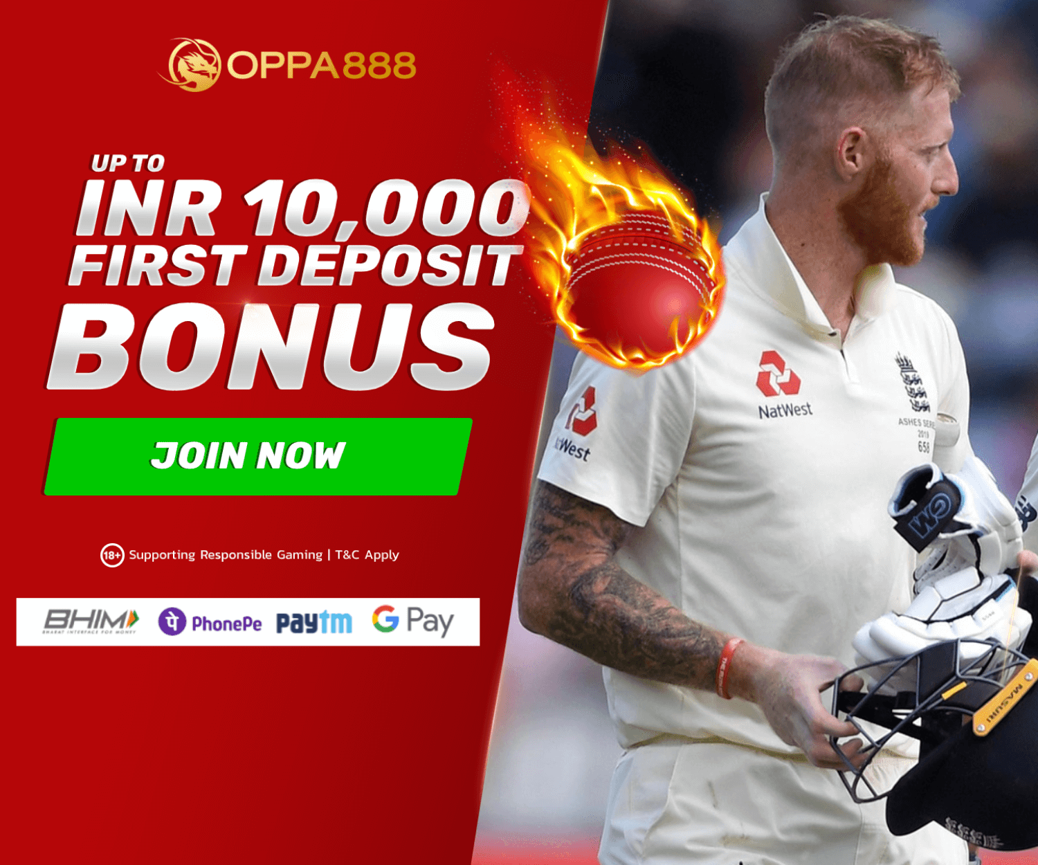 Register for Oppa888 bet and get Rs 10,000 welcome bonus