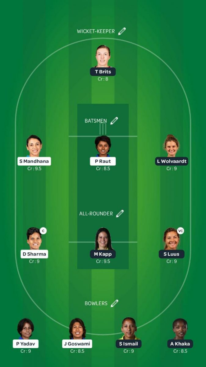 IN-W team vs SA-W Dream11 - 1st ODI 2021