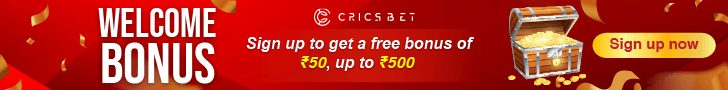 Register with CricsBet and get Rs.50 FREE