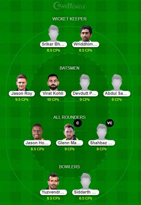 BLR vs SRH Dream11 predictions - IPL 2021