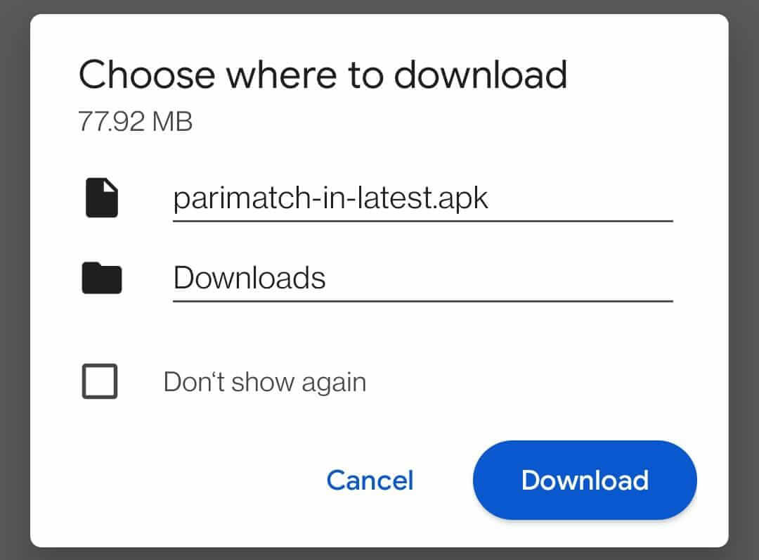 How to download the Parimatch Android app?